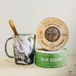 Dans une boîte en bois gravée (100gr) - Bon Bidon - Tisane bio pour la digestion