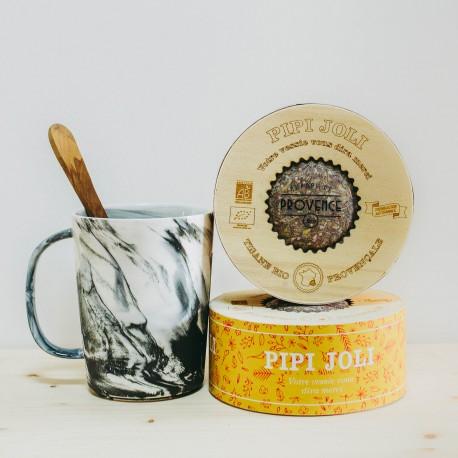 Kräutertee Pipi Joli in einer Holzschachtel