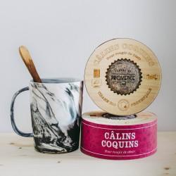 In an engraved wooden box (100gr) - Câlins Coquins - Aphrodisiac herbal tea