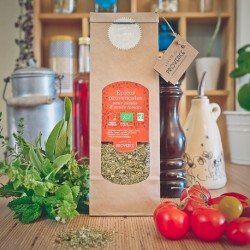 In a paper bag (50gr) Organic spices for pizza