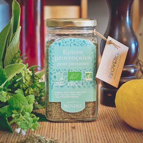 Organic Provencal herbs for fish