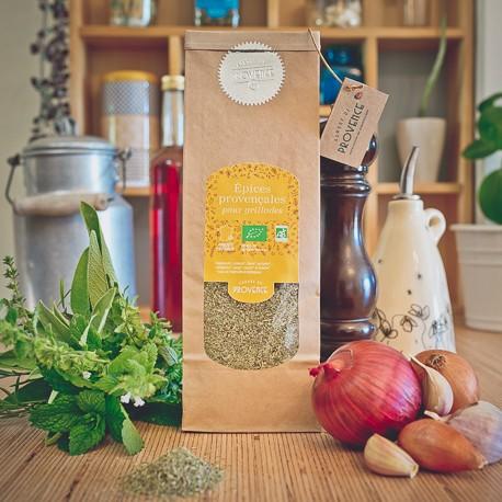 Épices provençales bio pour grillades
