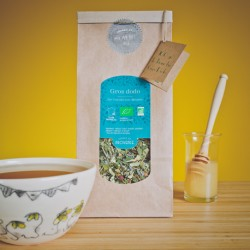 In a paper bag (100gr) Organic Sleep Tea Gros Dodo