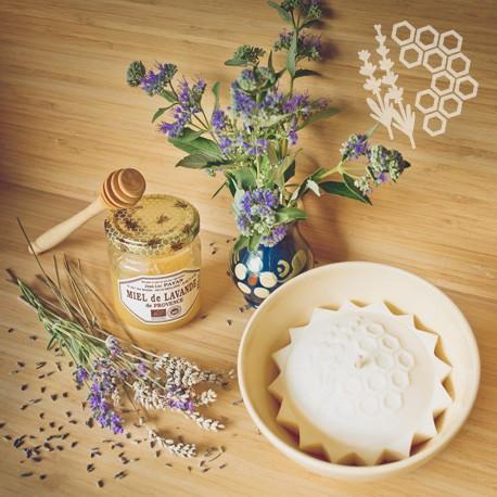 bougie parfumée bio lavande miel