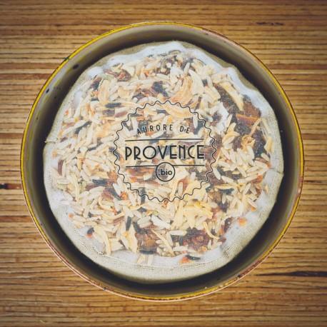 Organic rice in a bowl - Collection Mélitée