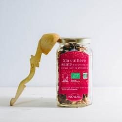 Dans un bocal rectangulaire (150gr) Ma cuillère santé aux fruits et à l'ail noir de Provence