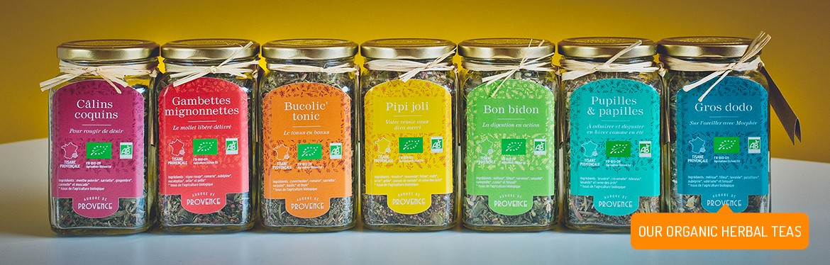 Organic herbal teas Aurore de Provence